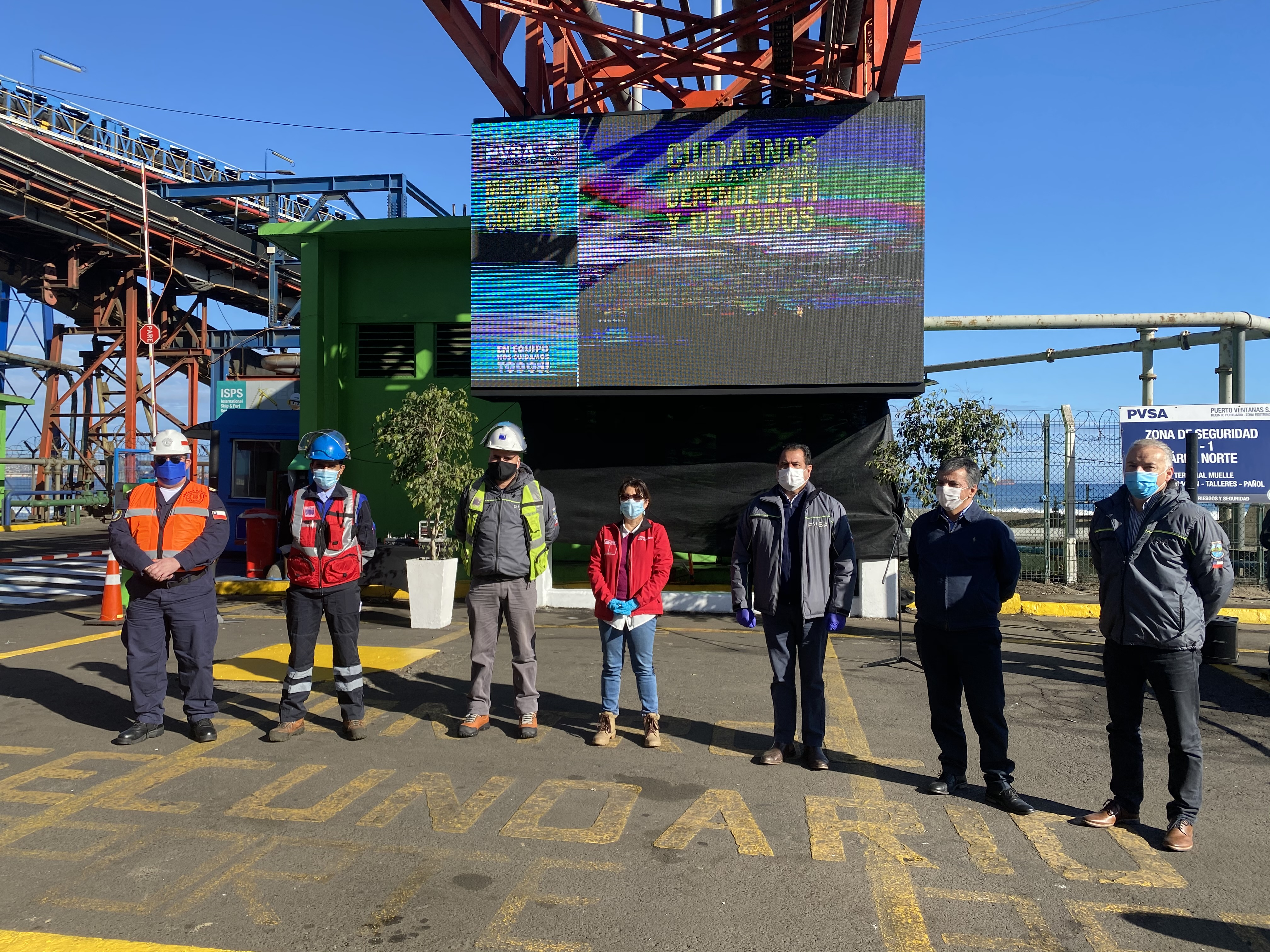 Puerto Ventanas incorpora para uso de sus trabajadores Mascarillas reutilizables con Nanopartículas de Cobre