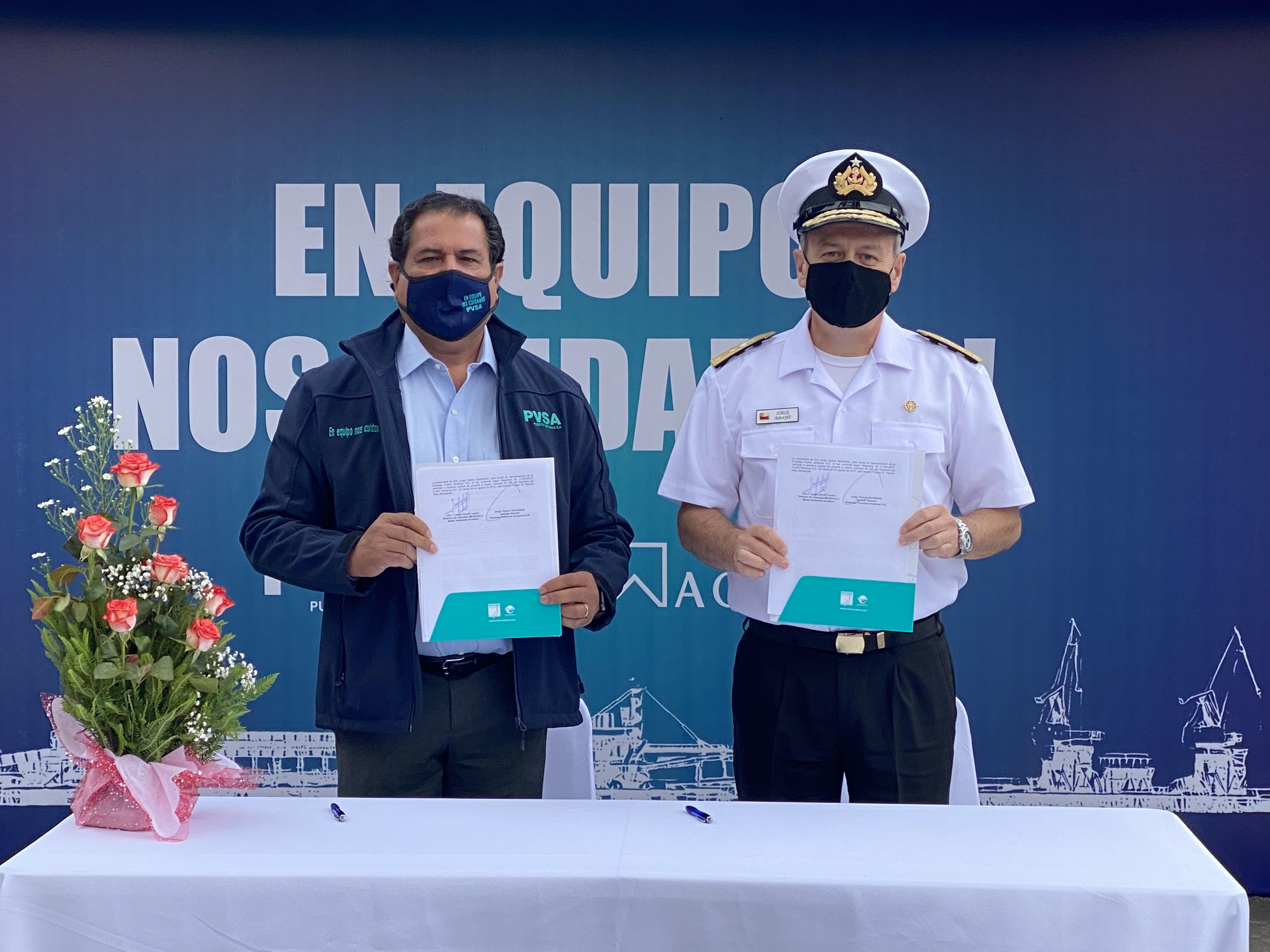Puerto Ventanas y Autoridad Marítima firman protocolo de intercambio de información