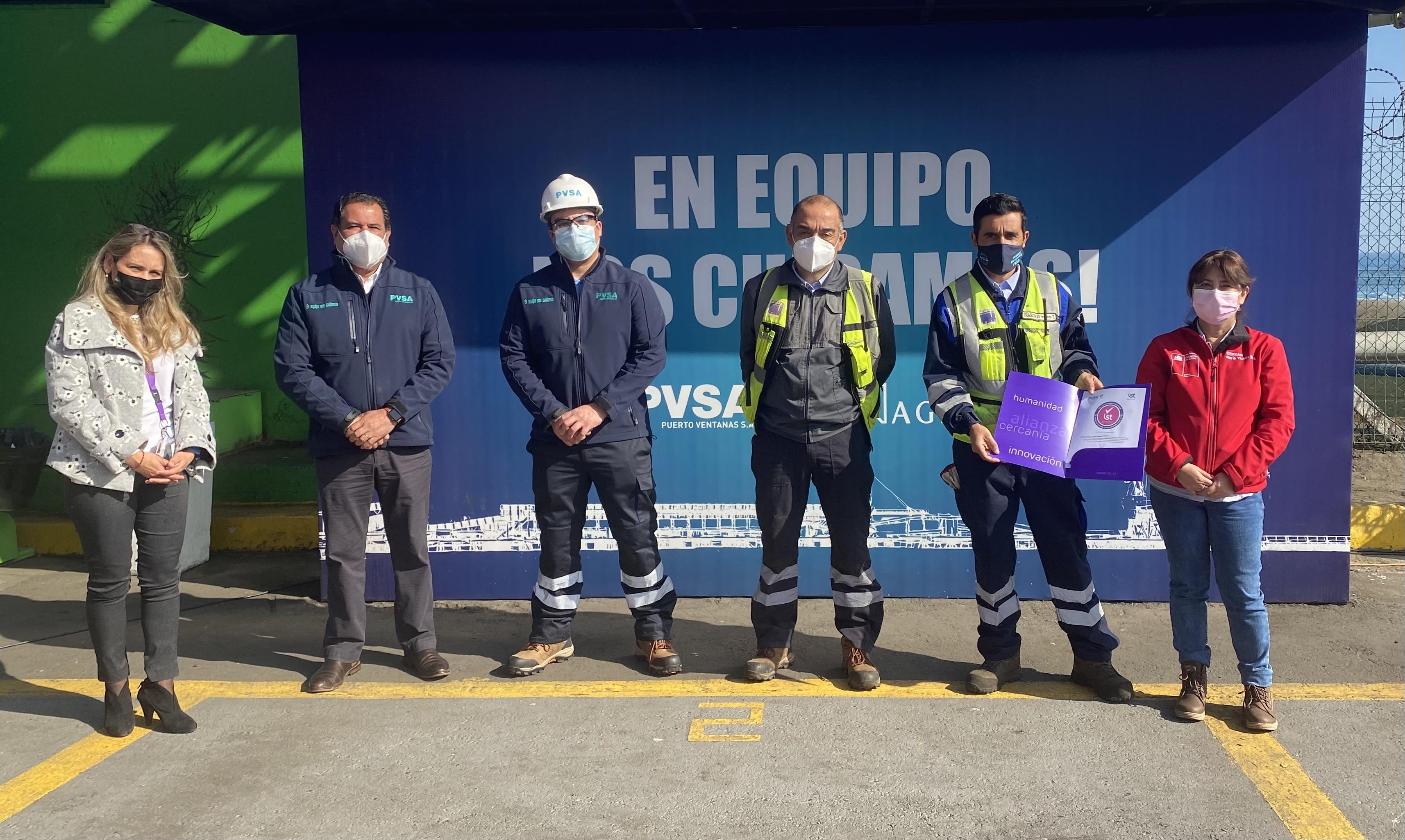 Puerto Ventanas y Agmac primeras empresas portuarias de Chile en recibir sello Covid del IST